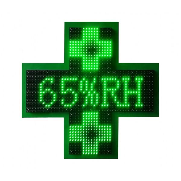 Μονόχρωμος Πράσινος  Ηλεκτρονικός Σταυρός LED 3D 85 cm