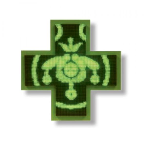 Μονόχρωμος Πράσινος Ηλεκτρονικός Σταυρός LED 3D 106 cm